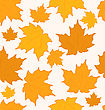 Autumnal Maple Leaves Seamless Background stock illustration