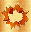 Autumnal Maple Leaves Wooden Texture Copy Space For Your Text