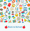 Illustration Back To School Background With Education Objects - Vector