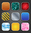 Illustration Backgrounds With Texture For The App Icons - Vector