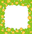 Illustration Border With Clovers And Golden Coins For St. Patrick's Day - Vector
