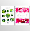 Illustration Business Brochures, Blur Backgrounds. Layout Can Be Used For Design For Catalog, Booklet, Newsletter. A4 Size - Vector