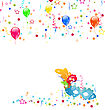 Illustration Carnival Background With Mask, Confetti, Balloons - Vector stock illustration