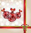 Celebration Background With Christmas Balls And Holiday Decoration