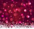 Illustration Christmas Glowing Background With Snowflakes - Vector