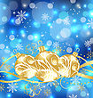 Christmas Holiday Background With Golden Balls