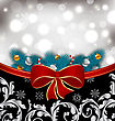 Illustration Christmas Traditional Background With Decoration - Vector