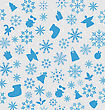 Illustration Christmas Wallpaper With Traditional Elements - Vector