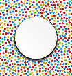 Illustration Circle Frame On Confetti Fun Colorful Background - Vector