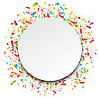 Illustration Clean Card With Colorful Explosion Of Confetti - Vector