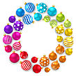 Illustration Collection Colorful Christmas Glass Balls - Vector