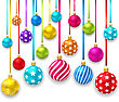 Illustration Collection Colorful Christmas Ornamental Balls - Vector