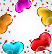 Illustration Collection Glossy Hearts Balloons For Valentine Day - Vector