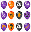Illustration Colorful Balloons For Halloween Party - Vector stock vector