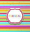 Illustration Colorful Card With Advertising Header For Carnival - Vector stock vector
