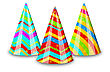 Illustration Colorful Party Hats For Your Holiday, Isolated On White Background - Vector