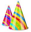 Illustration Colorful Party Hats For Your Holiday, Isolated On White Background - Vector stock vector