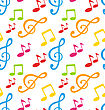 Illustration Colorful Seamless Pattern For Advertising Poster Music Festival - Vector