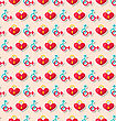 Illustration Colorful Seamless Pattern For Valentines Day. Holiday Background - Vector