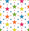 Illustration Colorful Starfishes, Summer Seamless Background - Vector