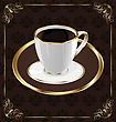 Cute Ornate Vintage Wrapping For Coffee Coffee Cup