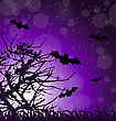 Illustration Dark Scary Background With Halloween Night - Vector