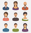 Illustration Different Human Icons Isolated On White Background - Vector