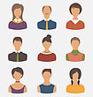 Illustration Different Male And Female User Avatars - Vector