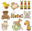 Illustration Of Different Toys Items For Baby