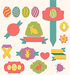 Illustration Easter Scrapbook Set - Labels, Ribbons And Other Elements (1) - Vector stock vector