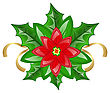 Illustration Flower Poinsettia For Christmas Decoration - Vector stock vector