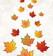 Flying Autumn Orange Maple Leaves stock illustration