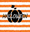 Illustration Glitter Orange Wallpaper For Happy Halloween With Pumpkin. Party Flyer. Holiday Template - Vector