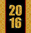 Illustration Glitter Poster With Lights And Twinkle For Happy New Year 2016 - Vector