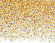 Illustration Golden Explosion Of Confetti. Golden Grainy Texture On White Background - Vector