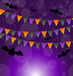 Illustration Halloween Background With Hanging Flags - Vector stock illustration