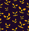 Illustration Halloween Seamless Pattern With Angry Eyes, Scary Decoration - Vector