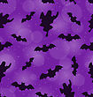 Illustration Halloween Seamless Pattern With Bats And Ghosts, Holiday Decoration - Vector