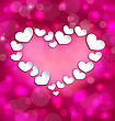 Illustration Lighten Background With Hearts For Valentine Day - Vector
