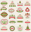 Illustration Merry Christmas And Happy Holidays Wishes. Collection Typographic Elements, Vintage Labels, Frames, Ornaments - Vector