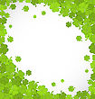 Illustration Natural Frame With Clovers For St. Patrick's Day, Copy Space For Your Text - Vector