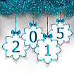 Illustration New Year Paper Snowflakes With Bows - Vector