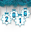 Illustration New Year Paper Snowflakes With Bows, Winter Holiday Background - Vector