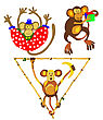 Apes In Circus stock vector