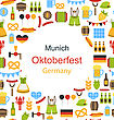 Illustration Oktoberfest Border Frame With Traditional Elements - Vector