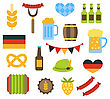 Illustration Oktoberfest Symbols Isolated On White Background - Vector