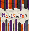 Illustration Old Colorful Poster With Text For Halloween - Vector