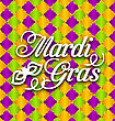Illustration Pattern Background With Ornamental Text For Mardi Gras - Vector