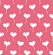 Illustration Pink Seamless Pattern With Hearts Balloons For Valentines Day. Holiday Background - Vector