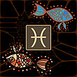 Pisces(The Fishes) Zodiac Horoscope Astrology Sign Illustration